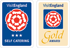 3 Star self-catering and Gold Award, Visit England